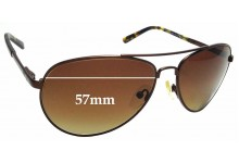 Sunglass Fix Replacement Lenses for PolarOne P1-1131B -57mm wide