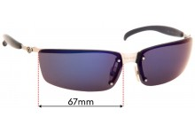 Chanel 4008 Replacement Sunglass Lenses - 67mm Wide