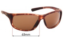 Maui Jim MJ278 Spartan Reef Replacement Sunglass Lenses - 63mm Wide