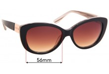 Sunglass Fix Replacement Lenses for Oroton Dynasty - 56mm Wide