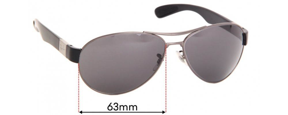 Ray Ban RB3509 Replacement Sunglass Lenses - 63mm wide