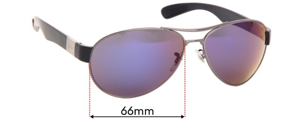 Ray Ban RB3509 Replacement Sunglass Lenses - 66mm wide