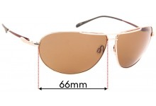 Sunglass Fix Replacement Lenses for Serengeti Salto - 66mm Wide