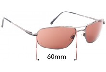 Sunglass Fix Replacement Lenses for Serengeti Velocity - 60mm wide