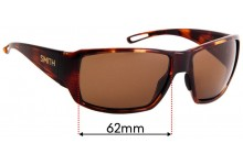 Sunglass Fix Replacement Lenses for Smith Guides Choice 62mm wide