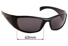 Spotters Artic + (Plus) Replacement Sunglass Lenses - 63mm wide x 40mm tall