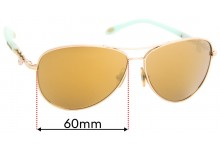 Tiffany & Co TF 3034 Replacement Sunglass Lenses - 60mm wide