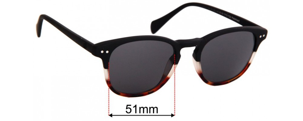 41 Eyewear FO35037 Replacement Sunglass Lenses - 51mm wide