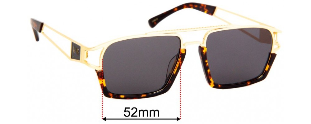 9Five Kingpin Replacement Sunglass Lenses- 52mm wide