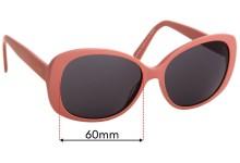 Sunglass Fix Replacement Lenses for Carla C Zampatti Sun RX 02- 60mm Wide