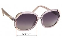 Chloe CL2119 Replacement Sunglass Lenses - 60mm wide