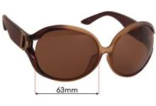 Christian Dior DIOR PROMENADE 1 Replacement Sunglass Lenses - 64mm Wide