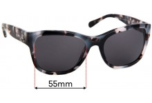 Sunglass Fix Replacement Lenses for Coach HC8243 - 55mm Wide