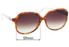 Diane Von Furstenburg DVF567S Replacement Sunglass Lenses - 59mm wide