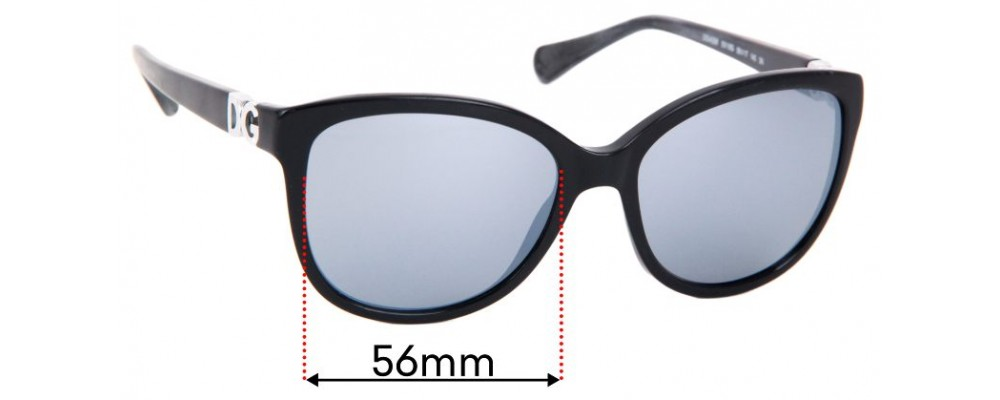 Dolce & Gabbana DG4258 Replacement Sunglass Lenses - 56mm wide