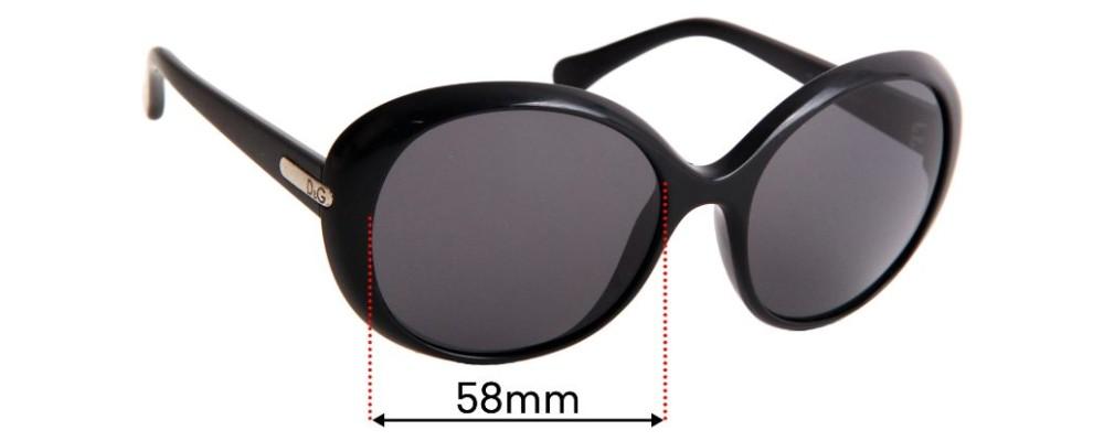Sunglass Fix Replacement Lenses for Dolce & Gabbana DG8085 - 58mm wide