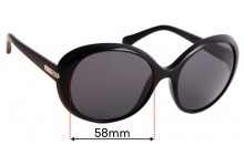 Sunglass Fix Replacement Lenses for Dolce & Gabbana DG8085 - 58mm wide