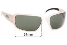 Sunglass Fix Replacement Lenses for Gatorz Fusion - 61mm wide