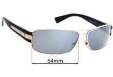 Giorgio Armani GA 598/S Replacement Sunglass Lenses - 64mm wide