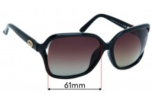 Gucci GG3658/F/S Replacement Sunglass Lenses - 61mm Wide