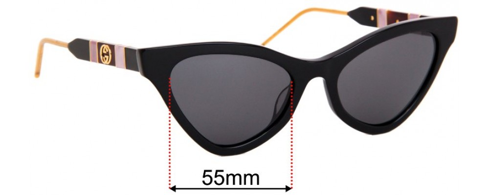 Gucci GG0597S Replacement Lenses 55mm