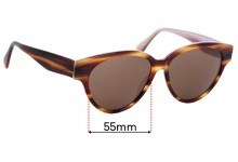 Sunglass Fix Replacement Lenses for INDO Florida - 55mm Wide