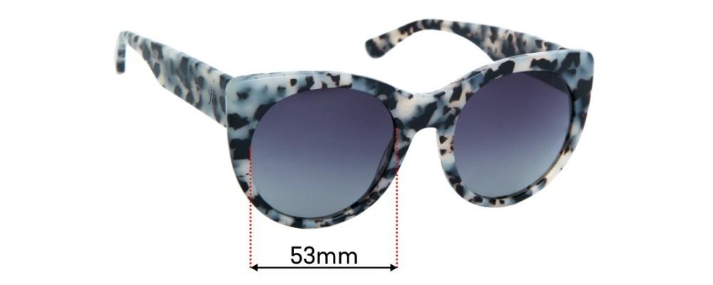 Sunglass Fix Replacement Lenses for Juliette Hogan No. 04 - 58mm wide
