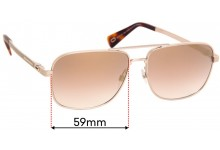 Sunglass Fix Replacement Lenses for MARC BY Marc Jacobs Sun Rx 05 - 59mm Wide
