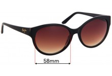 Maui Jim Venus Pool MJ100 Replacement Sunglass Lenses - 58mm Wide