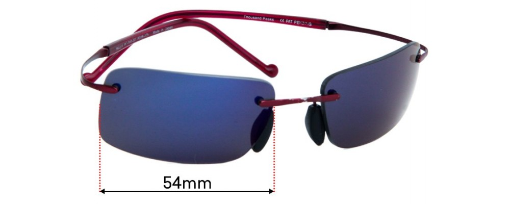 Maui Jim MJ517 Thousand Peaks Replacement Lenses 54mm wide