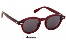 Moscot Lemtosh Replacement Sunglass Lenses - 46mm wide