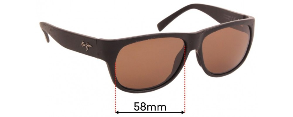 Maui Jim Makawao MJ282 Replacement Sunglass Lenses - 58mm Wide