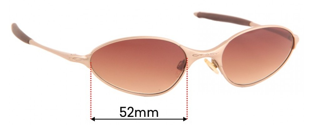 Oakley C-Wire Rx Replacement Sunglass Lenses - 52mm Wide