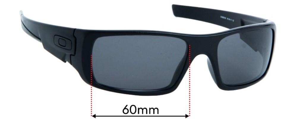 Oakley Crankshaft OO9239 Replacement Sunglass Lenses - 56mm wide