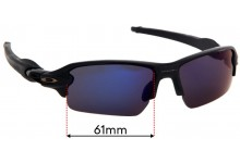 Oakley Flak 2.0 OO9271 (Asian Fit) Replacement Sunglass Lenses - 61mm Wide