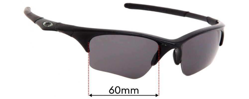 Oakley Half Jacket XLJ Replacement Sunglass Lenses 60mm wide