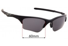 Oakley Half Jacket XLJ Replacement Sunglass Lenses 60mm wide
