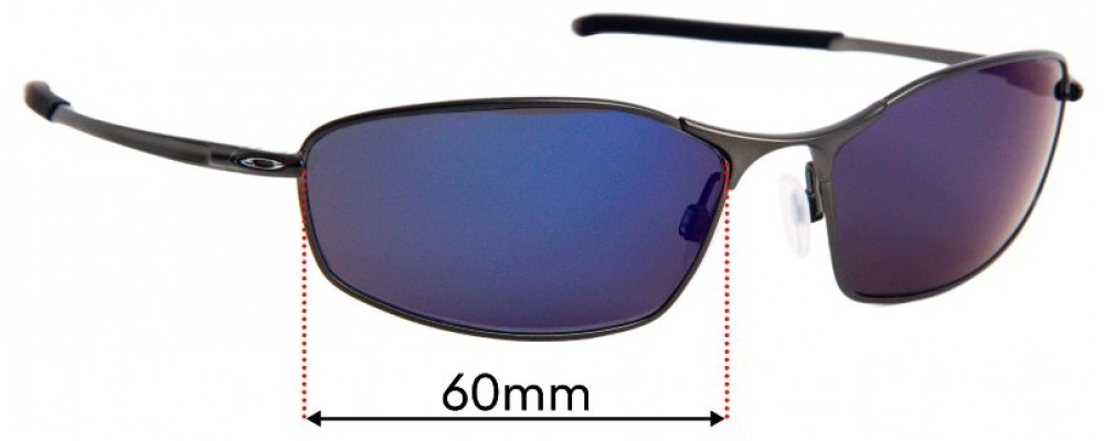Oakley Whisker OO4141 Replacement Sunglass Lenses - 60mm Wide