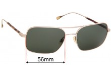 Sunglass Fix Replacement Lenses for Oliver Peoples West De Oro OV1149S - 56mm Wide