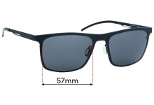 Sunglass Fix Replacement Lenses for Orgreen Malcolm - 57mm wide