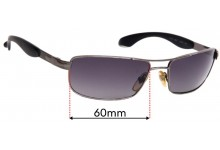 Persol 2140S Replacement Sunglass Lenses - 60mm wide