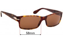 Persol 2803S Replacement Sunglass Lenses - 58mm Wide