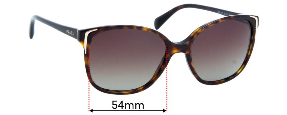Prada SPR01O Replacement Sunglass Lenses - 54mm wide