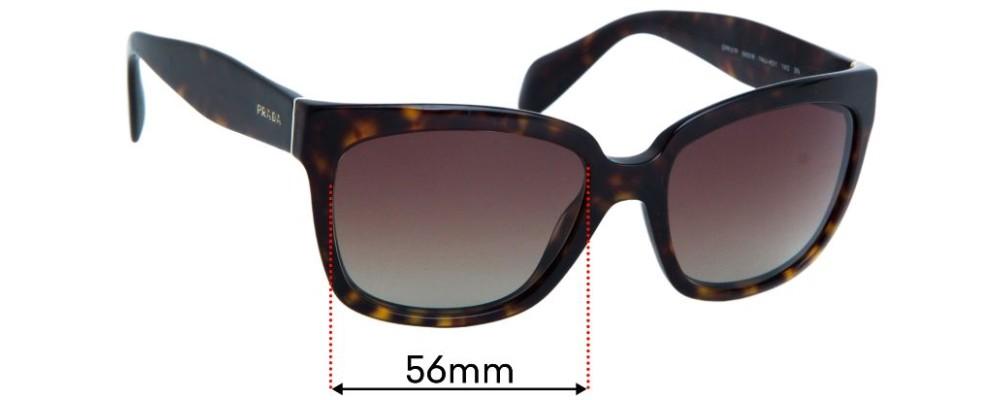Prada SPR07P Replacement Sunglass Lenses - 56mm Wide