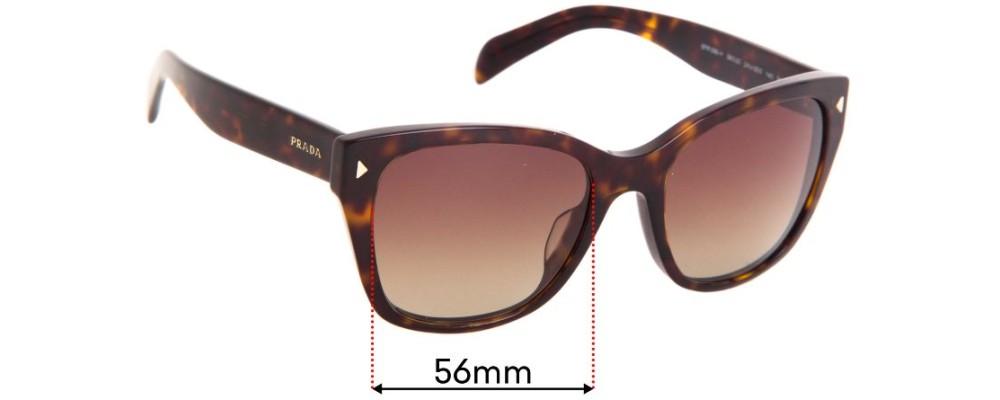 Sunglass Fix Replacement Lenses for Prada SPR09S-F - 56mm wide