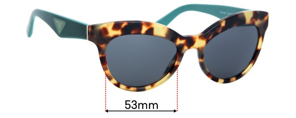 Prada SPR23Q Replacement Sunglass Lenses - 53mm wide