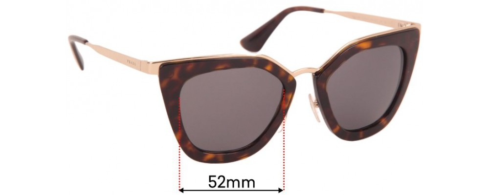 Sunglass Fix Replacement Lenses for Prada SPR 23O - 56mm Wide