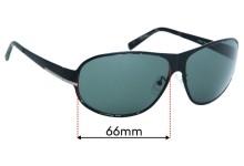 Prada SPR55F Replacement Sunglass Lenses - 66mm