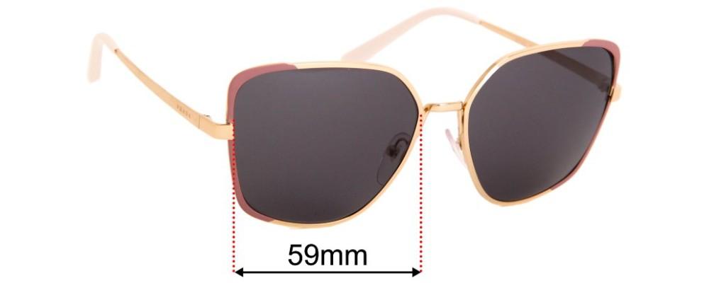 Prada SPR60X Replacement Sunglass Lenses - 59mm Wide