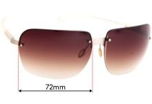 Sunglass Fix Replacement Lenses for Prada SPR75A - 72mm Wide